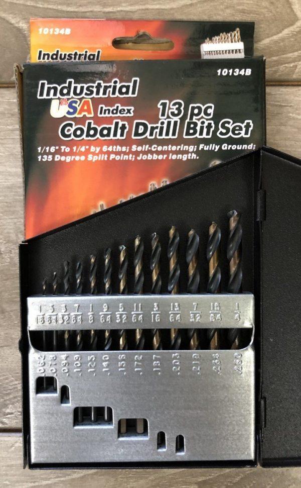 13pc Cobalt Drill Index set