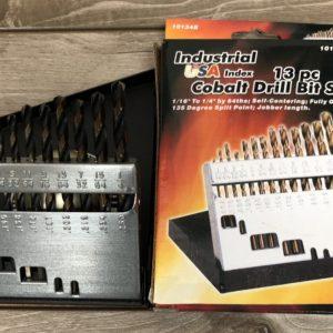13 Piece Cobalt Drill Bit Set