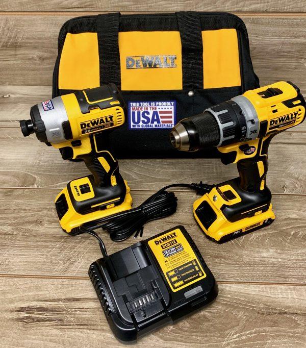 DeWalt Cordless 20v Brushless Drill / Driver with 2 batteries combo DCK283d2