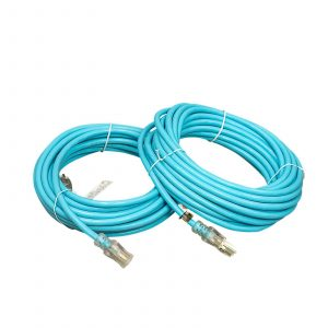12 GAUGE HEAVY DUTY BLUE EXTENSION CORD - SINGLE LIGHTED ENDS