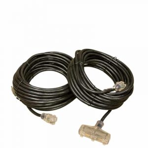 12 GAUGE SJTW BLACK EXTENSION CORD SINGLE AND TRIPLE TAP LIGHTED ENDS